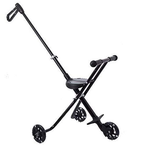 QINJIE Cochecito de bebé Niños Plegables ultraligeros 1-6 años Cochecito de antigüedad Baby High Landscape Stroller,XS