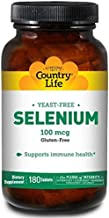 Country Life Selenium 100 mcg Yeast Free, 180-Count by Country Life