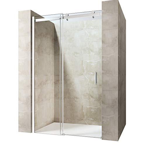Durovin Bathrooms Frameless Sliding Door for Shower Enclosure - 8mm Thick Transparent Safety Glass -...