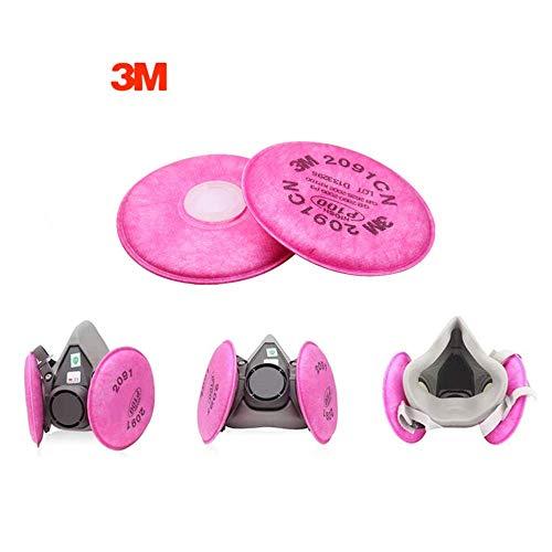 2091 Filter mit 3M (TM) Partikelfiltern 2091 P100 Medium, verwendet für 6000 7000 FF-4 Filter, 4,3 Zoll für Dekorationsstaubschutz (1 Paar)