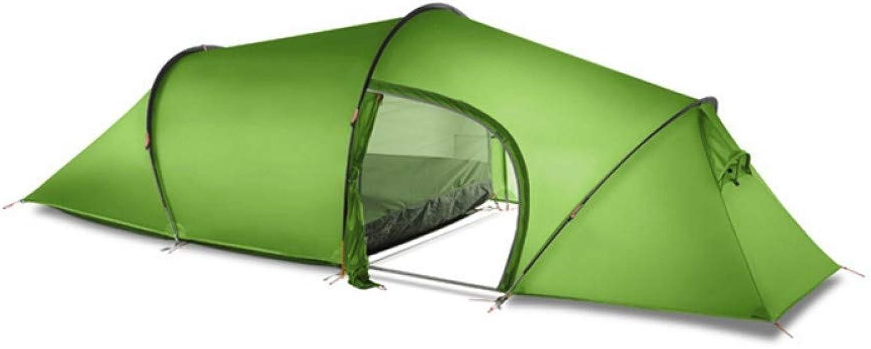 DFSURS Zelte 2 Personen Tunnel Zelt 15D Silikon 2 Zimmer Groes Zelt Outdoor Camping Wandern Familie Ultralight 4 Season