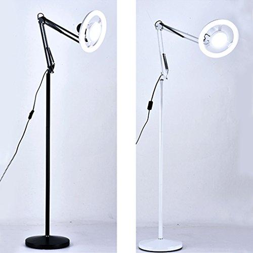 Lámparas de luz fría LED de belleza tatuaje vertical lámpara de pie de uñas salón de belleza lámparas de luz fría LD02-02 (color: blanco)