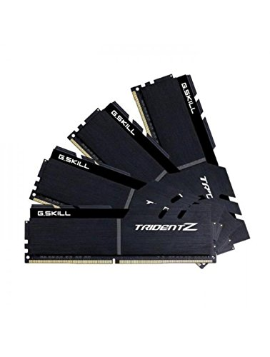 G.Skill 32GB DDR4-4133 módulo de - Memoria (32 GB, 4 x 8 GB, DDR4, 4133 MHz, 288-pin DIMM, Negro)