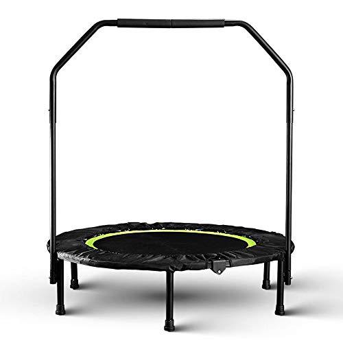 40inch Opvouwbare Geschiktheid Trampoline, professionele fitness apparatuur voor Volwassenenonderwijs Cardio Jump Workout Stabiliteit Exercise, Load 150kg,Green,With armrests