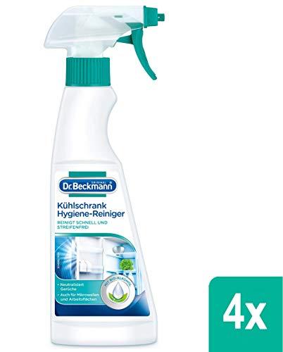 4x Dr. Beckmann Kühlschrank Hygiene-Reiniger mit Bio-Alkohol 250 ml