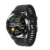 XQTEI Reloj Inteligente con batería Grande, detección de Temperatura del Cuerpo Humano, monitorización de la frecuencia cardíaca y la presión Arterial, Reloj Inteligente a Prueba de Agua IP67
