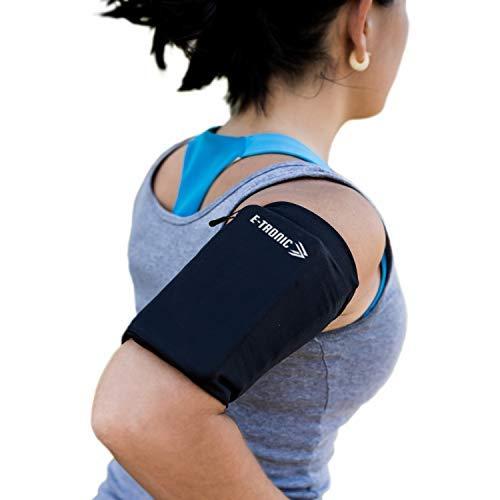 E Tronic Edge Handytasche Joggen, Laufen, Running - Sport-Armband als Handyhalterung für alle Handy-Modelle - Schwarz - Medium