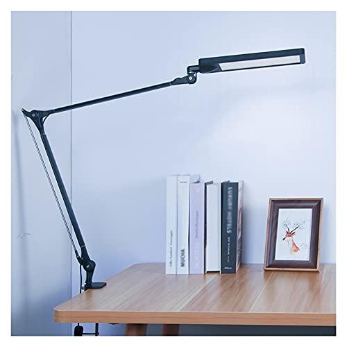 Lámpara Escritorio LED Lámpara de protección Ocular LED de Doble Brazo 8W Lámpara de Escritorio de Control táctil Plegable con función de Memoria Lámpara de Escritorio Regulable con Abrazadera, Negro