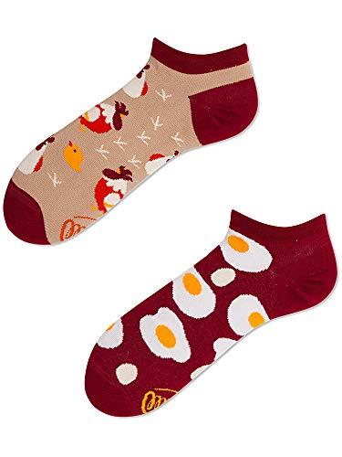 Many Mornings unisex Knöchelsocken Egg And Chicken (Rot, 39-42)