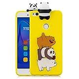 LAXIN Cute Panda Case for Huawei P8 Lite (2017),Soft 3D kawaii Panda Silicone Case,Cute Animal...