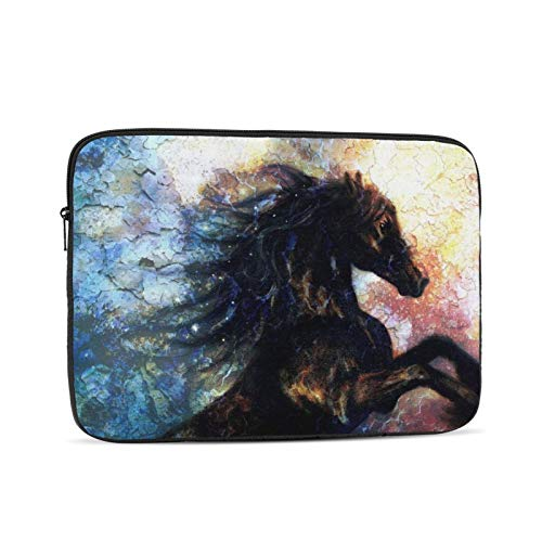 KXT Horse Painting Laptop Sleeve,Carrying Bag Chromebook Case Notebook Bag Tablet Cover