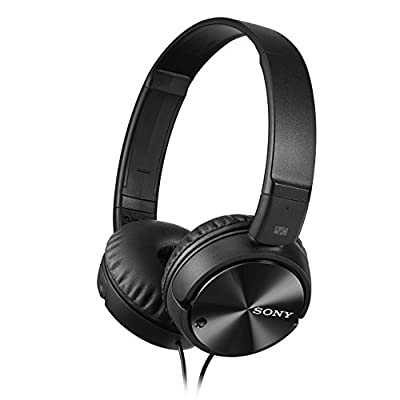 Sony MDR-ZX110NA Overhead Noise Cancelling Headphones - Black by Sony