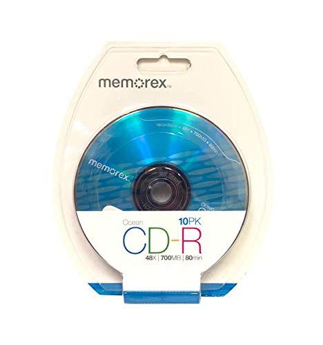Memorex Cool Color Designer CD-R Media Blister Pack, Blue, 700MB/80 Minutes, Pack of 10 Discs