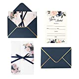Best Wedding Invitations - Doris Home Navy Blue Invitations Cards with Envelopes Review