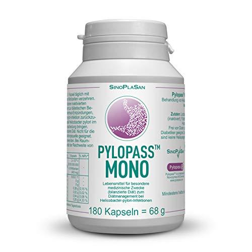 VORTEILSPACK: Pylopass MONO 200mg, 180 Kapseln, Zur diätetischen Behandlung von Helicobacter Pylori Infektionen, hochdosiert, vegan, laktosefrei, glutenfrei, qualitätsüberwacht