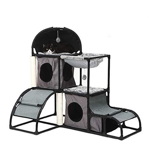 Kanqingqing Árboles para Gatos Nest Cat Climbing Frame Combinación Desmontable con Ball Kitten Activity Tower Plataforma de Saltos de condominios cómodos