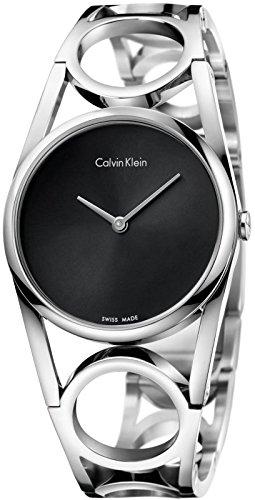 Calvin Klein Damen Digital Quarz Uhr mit Edelstahl Armband K5U2M141