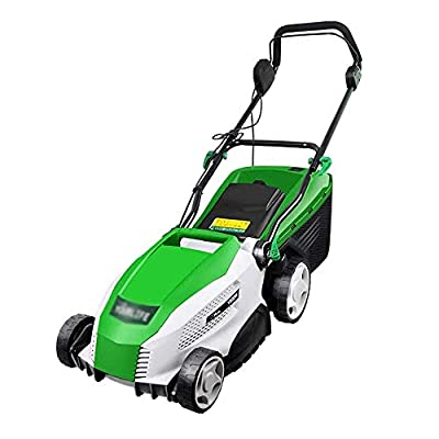 LYYJIAJU Lawn mowers & Tractors 1800W High Power Electric Wheeled Lawn Mower, Hand Push Multi-Function Lawn Mower,Grass Collection Box Volume 40L,Cutting Height20/30/40/50/60 / 70mm