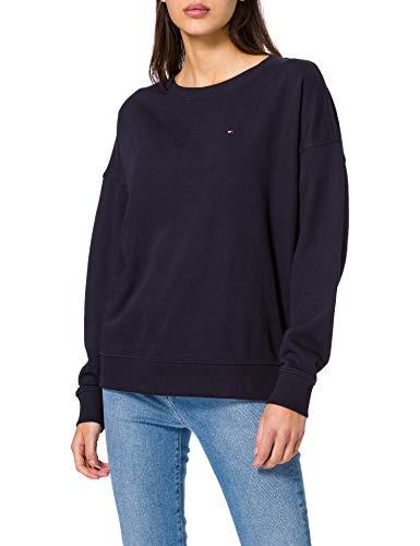 Tommy Hilfiger Damen Oversized Open-NK LS Sweatshirt, Blue, XX-Large