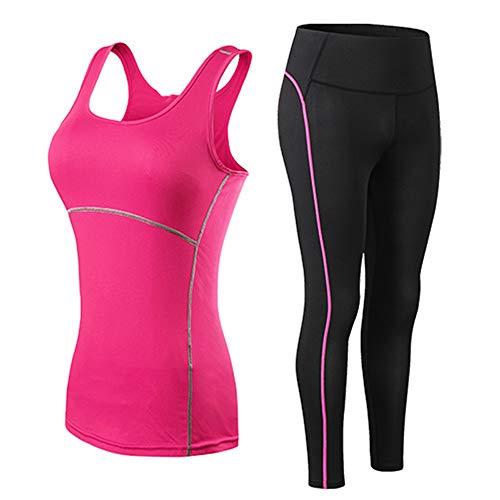Traje de yoga para mujer, pantalones de gimnasio, para correr, entrenamiento, ejercicio