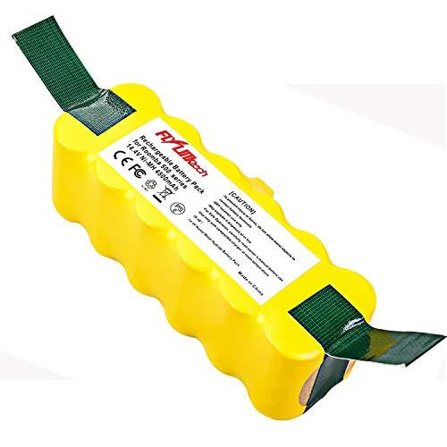 FLYLINKTECH 14.4V 4500mAh Ni-MH Aspiradoras de Repuesto Batería para iRobot Roomba 500 600 700 800 Series 530 531 532 535 536 540 550 552 560 570 580 595 620 650 660 760 770 780 790 870 980