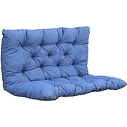 Ambientehome Coussin pour Banc - 100 x 98 x 8 cm - Bleu/Gris
