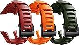 Chainfo Compatible con Suunto Ambit3 Peak/Ambit 2 / Ambit 1 Correa de Reloj, Banda de Reemplazo Silicona Suave Sports Pulsera (3-Pack H)