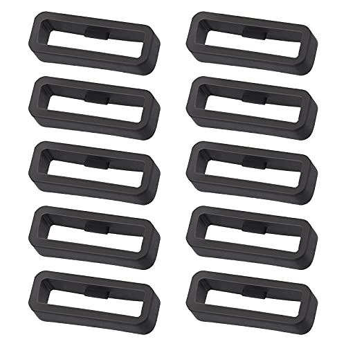 Baoblaze 10pcs Passant de Bracelet de Montre Noir pour Garmin Fenix 5 / 5s / 5X / 5Plus - PVC - 5 5Plus 22mm