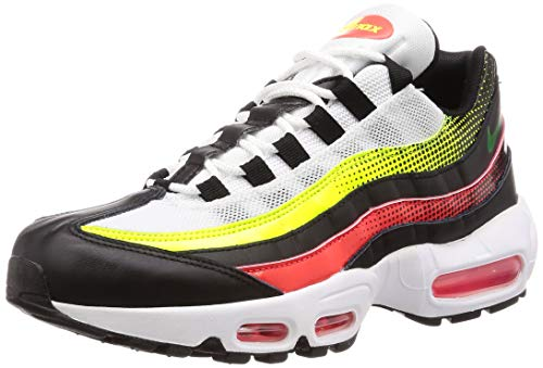 Nike Men's Air Max 95 Se Track & Field Shoes, Multicolour (Black/Aloe Verde/Bright Crimson/Volt 000), 6.5 UK
