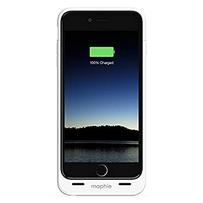 mophie juice pack - Protective Battery Case for iPhone 6 Plus/6s Plus ONLY (2,600mAh) - White from Mophie