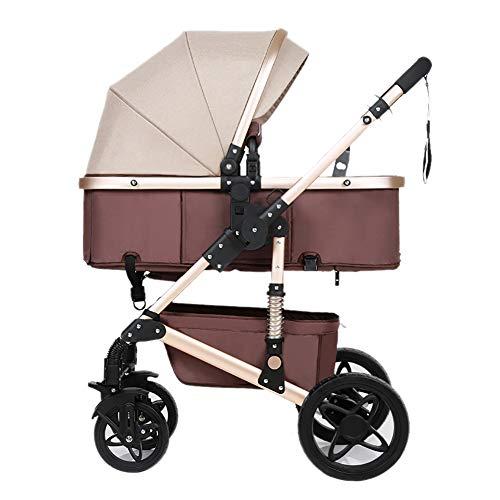 Poussetter Yhz@ Bébé, Pliant Léger Amortisseur Enfants Pousser des Chariots De Bébé Infantile Trolley Sit Ou Lie (Couleur : Brown)