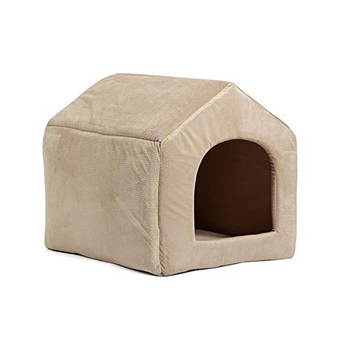 Pet Products - Cama de perro de lujo para perro con cama de 5 colores para dormir para mascotas, cojín para gatos y gatos, color beige