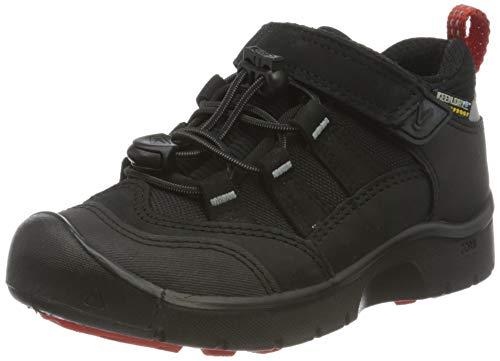 KEEN Blk/Red, Chaussures de Randonnée Basses Garçon Mixte Enfant, Noir Hikeport WP 1021964, 24 EU