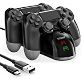 Y Team PS4 Controller Charger, Dual USB PS4 Controller Charging Station for Pstation 4/PS4/ Slim/ PS4 Pro Charging Dock Stand Station