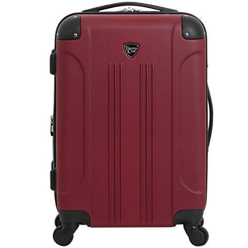 Travelers Club 20' Chicago Expandable Spinner Carry-On Luggage, Rhubarb