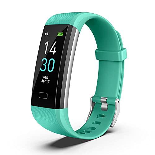 Fitness Pulsera de Actividad Reloj Inteligente Impermeable IP68 con Pantalla Color, Pulsera Inteligente Pulsómetro, Cronómetros, Monitor de Sueño Podómetro GPS Reloj Deportivo Mujeres Hombres Niños