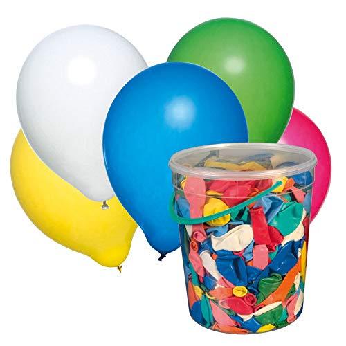 Susy Card 40026176 500 Luftballons, farbig Sortiert im Eimer