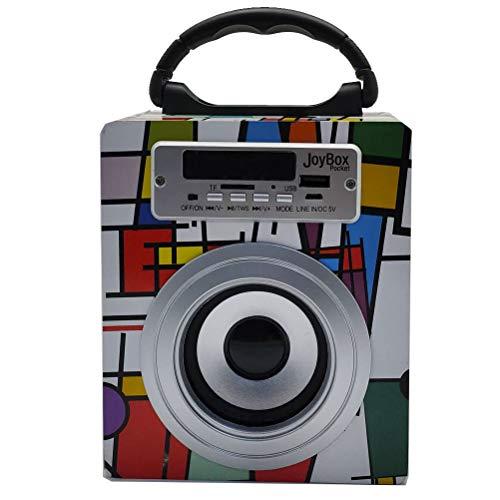 Biwond JoyBox Pocket Altavoz 5W (Bluetooth TWS, AUX, Radio FM, MicroSD, USB, Pantalla LED) – Picasso