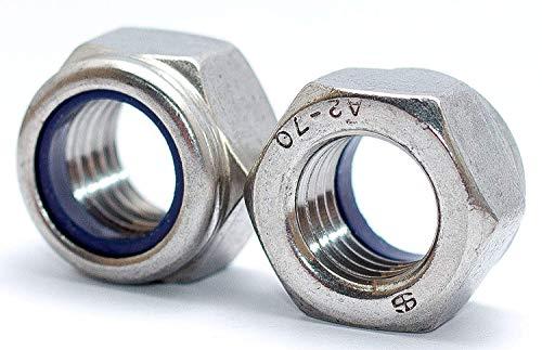 Sicherungsmuttern M12 DIN 985 10 Stück Edelstahl V2A Klemmmuttern Stopmuttern