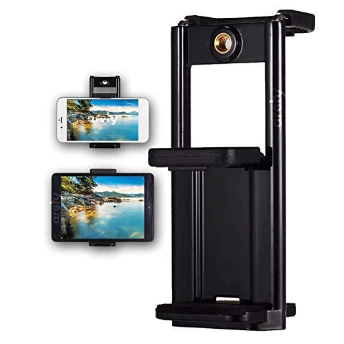 Archy Adaptador Soporte Holder Porta Celular Tablet Universal 2 en 1, portátil para Tornillo 1/4' (BASEPARATABLETA)