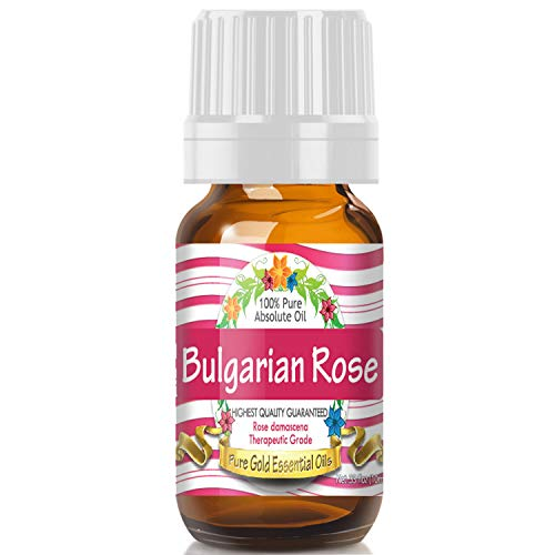 Pure Gold Bulgarian Rose Absolute Essential Oil, 100% Natural & Undiluted, 10ml