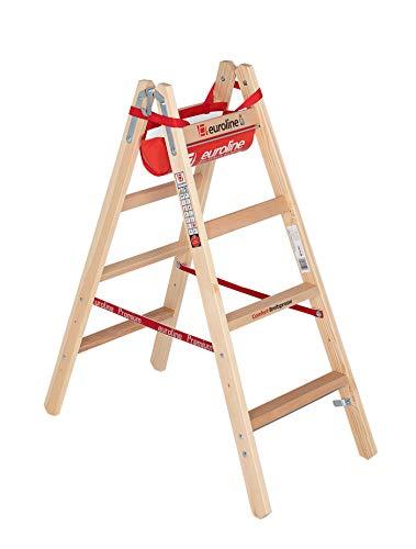 Escalera de madera de ancho Travesaños (2x 4peldaños