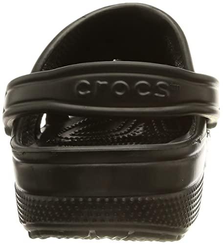 Crocs Classic Clog Unisex Adulta Zuecos, Negro (Black), 41/42 EU