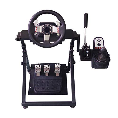 WRISCG Racing Wheel Stand, Support de Volant Pliable pour G27 G29 PS4 T300RS T500RS pour Simulation Automobile/PC et Consoles