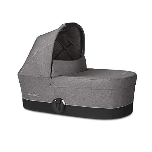 CYBEX Gold Kinderwagenaufsatz Cot S, Ab Geburt bis 6 Monate (9kg), Manhattan Grey