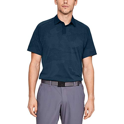 [アンダーアーマー] バニッシュ スプロケットポロ(ゴルフ/ポロシャツ/) 1317331 メンズ TCT/RGY 日本 MD (日本サイズM相当)