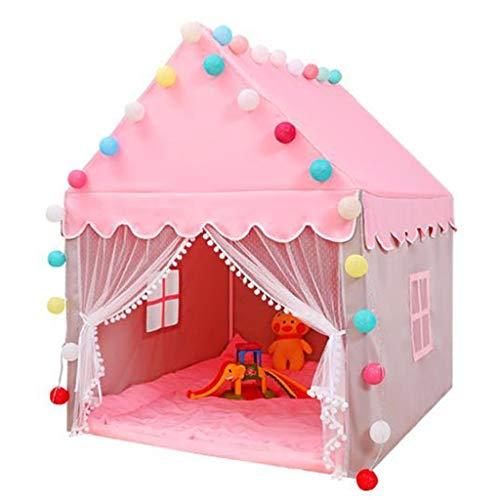 ANQIY Tienda de campaña para juegos, para interiores de juguetes, casa de almacenamiento de princesa, castillo de ensueño, cielo estrellado, lona de algodón, fácil de limpiar a los niños