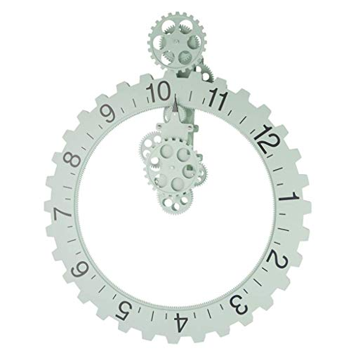 YHJBJM 20 Pollici Creative Muebles salón Gear reloj de pared Redondo (Colore : A)