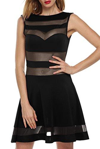 CRAVOG Kleid Ballkleid Partykleid Sexy Mesh Elegant Neu