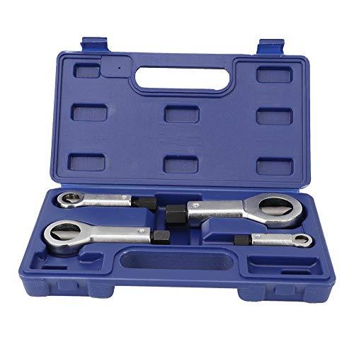Divisor de tuercas, 4 piezas Herramienta extractora de cortador de tuercas 9-27 mm Roto Dañado Corroído Atascado